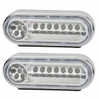 0.63W 21-LED White Light Car Tagfahrlicht (12V / 2 ST)