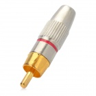 RCA macho enchufe conectores de adaptador audio / video - oro + plata (5 piezas)