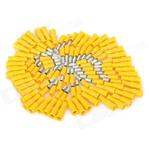 Male + Female Bullet Insulated Connector Crimp Terminals - Yellow (50 Pairs) 400 pcs wire copper crimp connector insulated cord pin end terminal