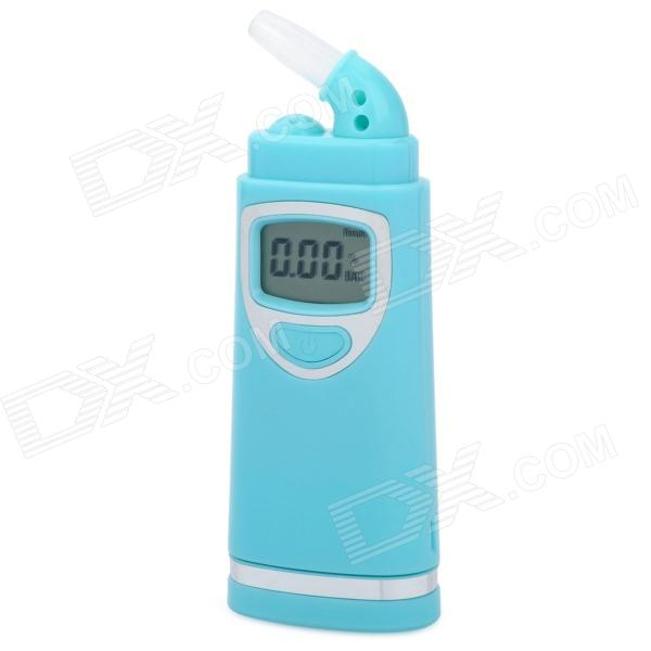 "0.9"" LCD Digital Breath Alcohol Tester - Blue (2 x AAA)"