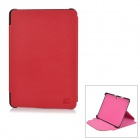 Stylish Protective PU Leather Case for Samsung Galaxy Tab P5100 - Dark Red