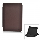 Stylish Protective PU Leather Case for Samsung Galaxy Tab P5100 - Brown