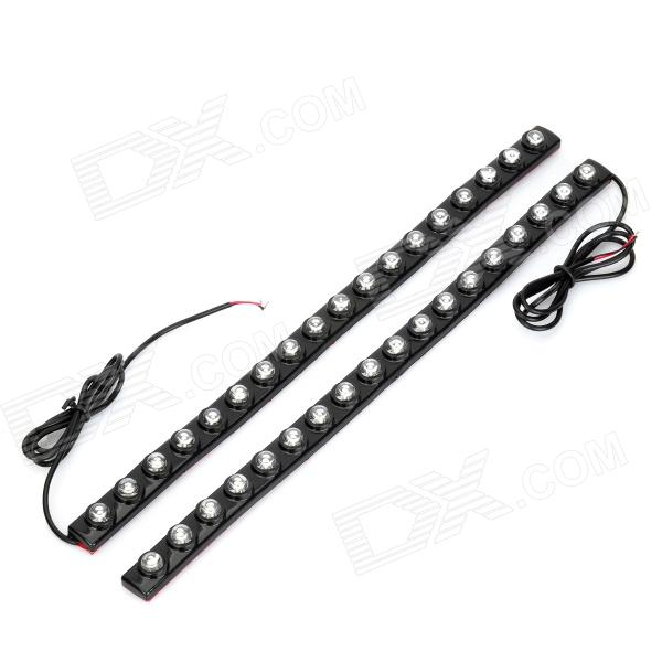 9W 18-LED 100lm White Light Car Daytime Running Light (12V / 2PCS) tcart 2x auto led light daytime running lights turn signals for toyota prius highlander for prado camry corolla t20 wy21w 7440