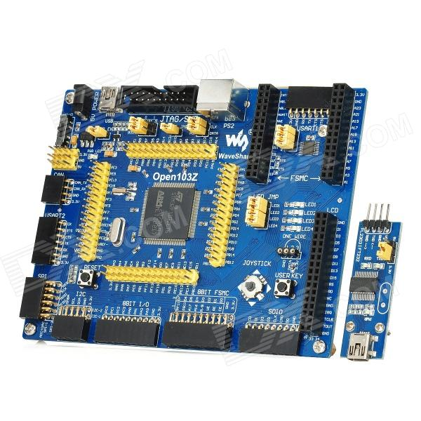 Open103Z Standard STM32F103ZET6 STM32 ARM Cortex-M3 SCM Development Board w/ PL2303 USB UART Module rs232 to rs485 converter with optical isolation passive interface protection