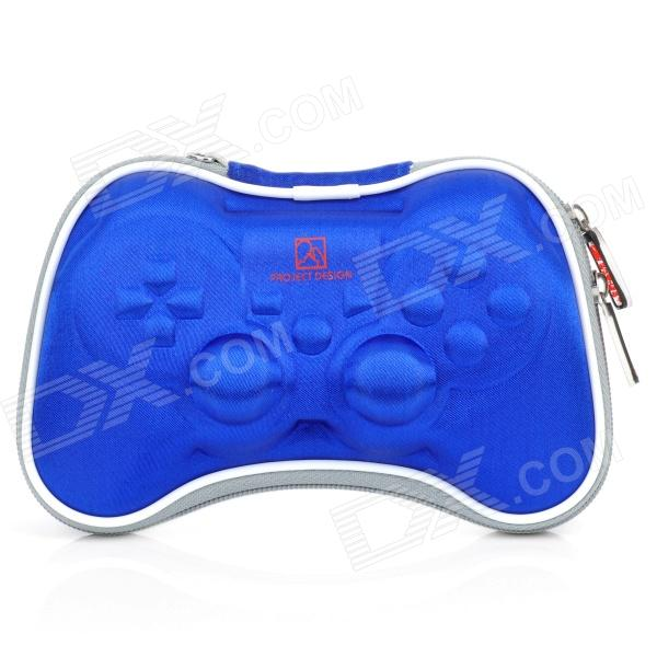 Airfoam Protective Fabric Carrying Pouch for PS3 / PlayStation 3 Wireless Controller - Blue projectdesign protective hard carrying pouch case for wii nunchuck controller red