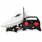 Rechargeable 2-CH Radio Control Electric Powered Racing Boat - White