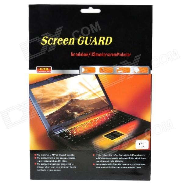 "15"" 16:9 Screen Guard Protection Film for Notebook Laptop - Transparent"