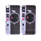 Cool Leica M8 Style Protective Front + Back Skin Sticker for iPhone 4 / 4S - Black + White