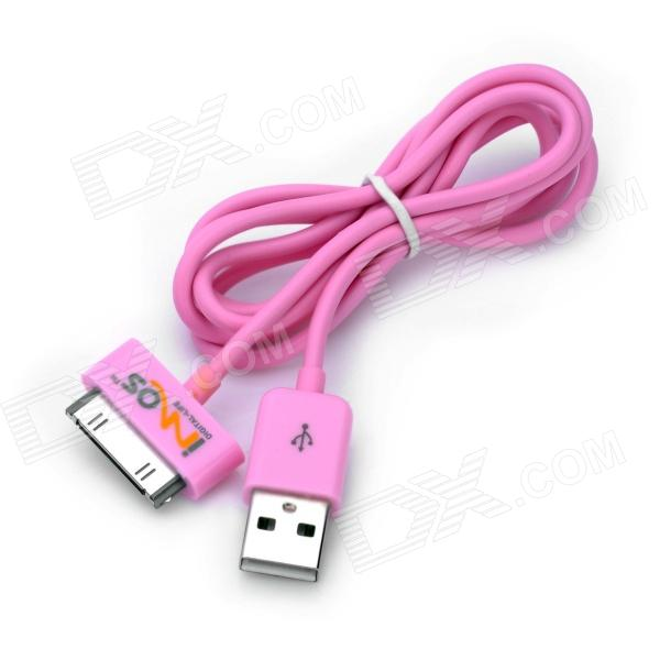 IMOS USB Sync Data / Charging Cable for iPhone 3G / 3GS / 4 / 4S / iPad / iPod - Pink