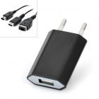 3-in-1 EU Plug Charger Set for Nintendo DS - Black (100~240V)