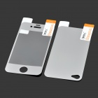 Q2 Glossy LCD Screen Front / Back Protector w/ Sticker + Cleaning cloth for iPhone 4 / 4S - Silver