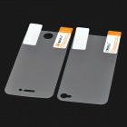 Anti-Glare Glossy Front / Back Screen Protector / Guards w/ Cleaning Cloth for Iphone 4 / 4S