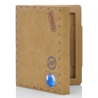 Retro Envelope Postcard Pattern Protective PU Leather Case Pouch for Ipad 2 / the New Ipad - Brown