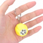 Cut Pumpkin Style 5-LED White Light Keychain - Yellow (2 x CR2016)