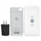 1680mAh Rechargeable Wireless Charger w/ Transmitter / AC Adapter / Apple 30 Pin Cable - White