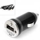 4-in-1 Car Charger Set for Nintendo DS / Sony PSP - Black