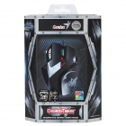 Genius DeathTaker USB Wired Programmable 100/800/2400/3200/5700 DPI Gaming Laser Mouse - Black
