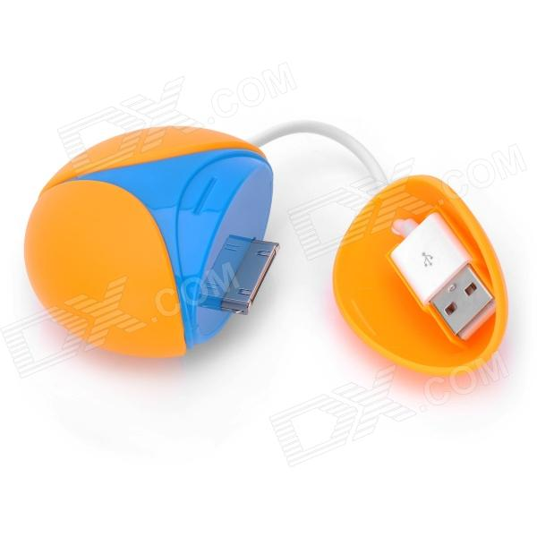Portable Rechargeable 1800mAh Power for iPhone 4 / 4S / 3G / 3S / iPod - Blue + Orange