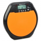 "DS100 2.0"" LCD Digital Practice Exercise Drummer Training Pad w/ Earphone - Black + Orange (2 x AA)"