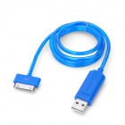 USB Data / Charging Cable with Visible EL Light for iPhone / iPad / iPod - Blue