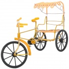 Creative Handmade Rickshaw Display Model - Golden + Yellow + Black