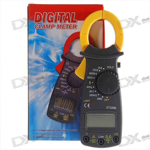 Auto Range Clamp Style Digital Multimeter with Strap (DT3266L+)