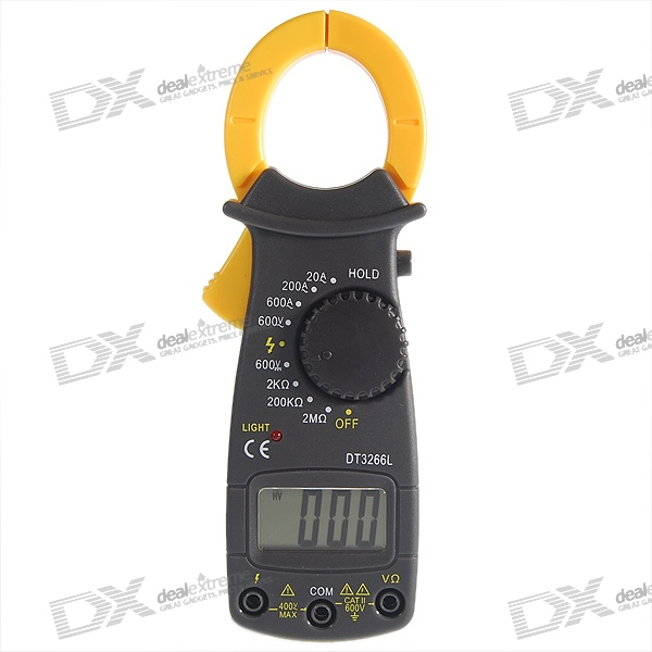 Clamp Style Multimeter : Auto range clamp style digital multimeter with strap