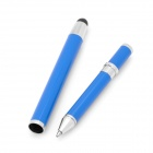 2-in-1 Retractable Stylus + Ballpoint Pen for Iphone / Ipad - Blue