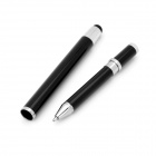 2-in-1 Retractable Stylus + Ballpoint Pen for Iphone / Ipad - Black