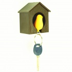 Fashion Nest of Love Bird Style Keychain w/ Creative Whistle - Brown