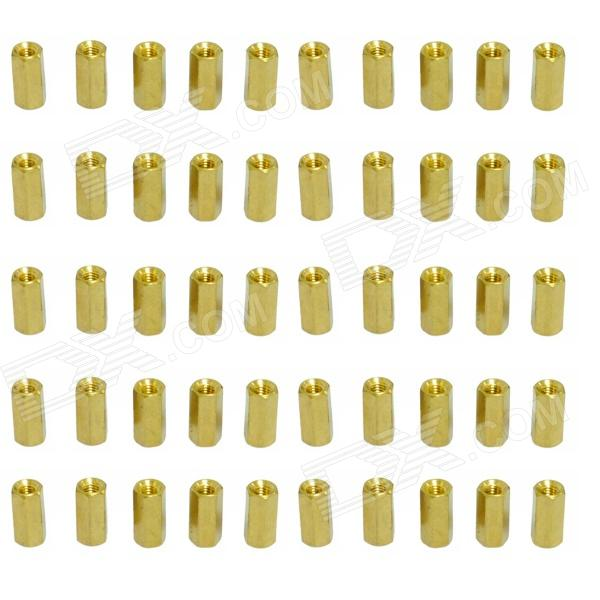 Two-way M3x10mm Brass DIY Binding Post Terminals for Arduino (50 PCS) 2 pin 3 5mm diy binding post terminals green 20 piece