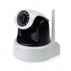 1.0MP Sicherheit IP Network Camera w / Wi-Fi / IR-Cut / 11-LED / SD / RJ45 / Audio - Schwarz + Schwarz