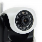 1.0MP Security IP Network Camera w/ Wi-Fi / IR-Cut / 11-LED / SD / RJ45 / Audio - White + Black