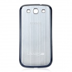 Replacement Wire Drawing Back Battery Cover Case for Samsung i9300 Galaxy S3 - Silver