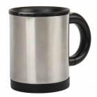 Aluminum Electric Self Stirring Cup - Silver (400ml / 2 x AA)