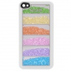 Protective Plastic + Aluminum Alloy Back Case w/ Multicolored Imitation Diamond