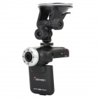 "2.0"" TFT 300KP Wide Angle 8-IR Night Vision Car DVR Camcorder w/ Mini USB / AV out - Black"