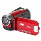 "HD-90 2.8"" TFT LCD 5.0MP CMOS Digital Camera Camcorder w/ 4X Digital Zoom - Red"