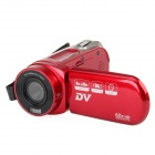 "HD-60 2,8 ""TFT LCD 5.0MP CMOS Digitalkamera Camcorder w / 4fach digitaler Zoom - Rot"