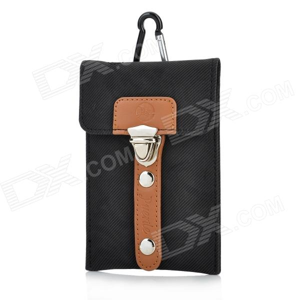 Sports Protective Bag Pouch for Iphone 4 / 4S / Samsung / HTC - Black protective pu leather pouch bag for iphone 5 4 4s coffee