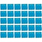 3-Pin 5.0mm DIY Binding Post Terminals - Blue + Silver (20-Piece)