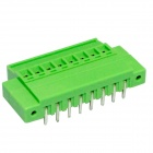 8-Pin 3.81mm bricolaje Terminales de Binding Post - verde + plata (5-PCS)