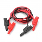 UNI-T UT-L08 Double Insulation Multi-Meter Test Extension Lead Probe Cables - Red + Black (2 PCS)