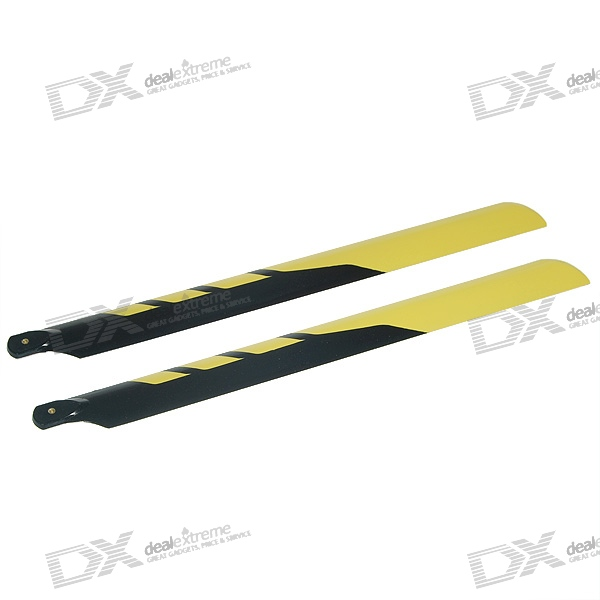 430# Fibre Glass Main Blades Set for R/C Helicopters (Yellow)