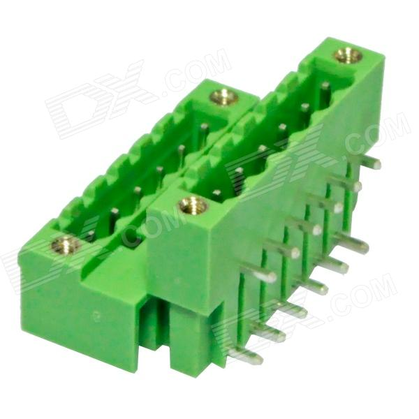 DIY Double-Row 6-Pin 5.0mm Binding Post Terminals - Green (2 PCS) 2 pin 3 5mm diy binding post terminals green 20 piece