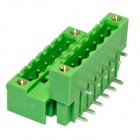 DIY Double-Row 6-Pin 5.0mm Binding Post Terminals - Green (2 PCS)