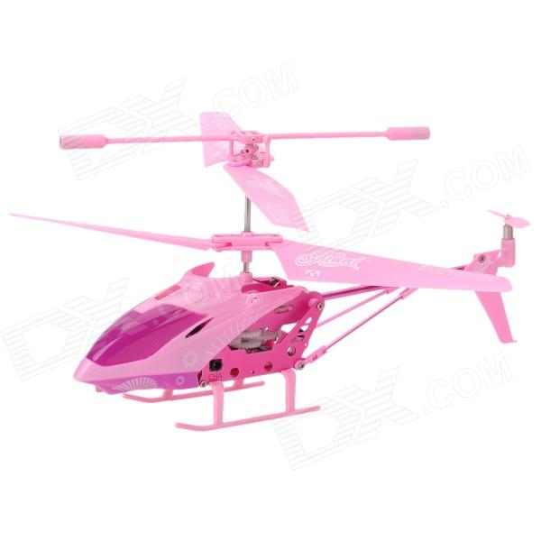 Portable 2.4GHz 4-CH Rechargeable IR R/C Helicopter w/ Gyroscope - Pink rechargeable wireless 3 ch control r c radio control helicopter with gyroscope