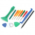 BST-288 12-in-1 Repaired Opening Disassemble Tool Kit for iPhone / iPad - Green + Blue + More