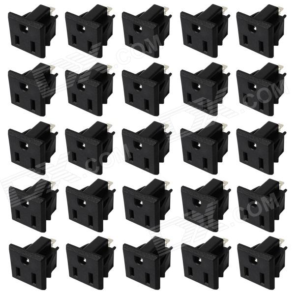 Electrical DIY 3-Pin Terminals Power Socket Outlet Set - Black (25 PCS / US Plug) integrated geophysical and electrical depth slicing investigation