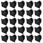 Electrical DIY 3-Pin Terminals Power Socket Outlet Set - Black (25 PCS / US Plug)